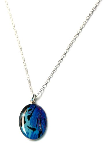 Anatomology Gamma Endorphin Micrograph Small Oval Pendant Necklace
