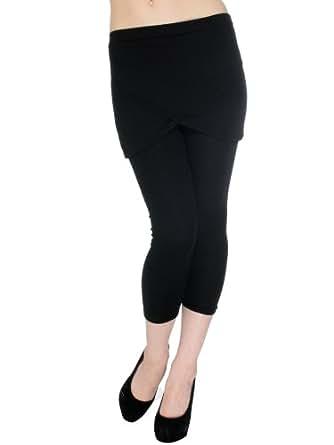 Trendy Hot Sexy Girl Women's Skirt Leggings Cross over Pants Trousers Black1