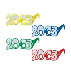 Fabulous and Fun 2013 New Years Glasses
