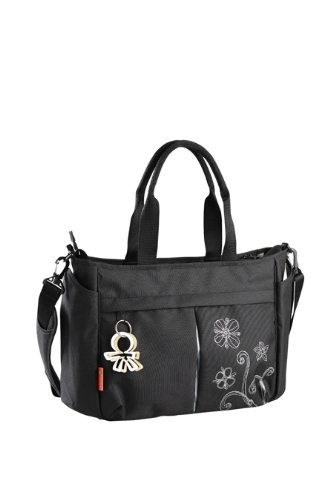 Okiedog Twinkle Metro Messenger Bag, Black (Discontinued by Manufacturer) - 1