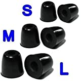 Bluecell Large Medium Small Size Memory Foam Tips Eartips for most earbuds / in-ear earphones
