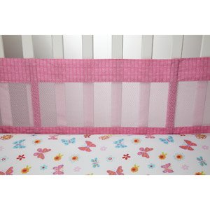 Litte Bedding Secure Me Crib Liner, Butterfly Kisses