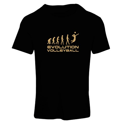 N4086F T-shirt female Evolution Volleyball gift (Medium Nero Oro)