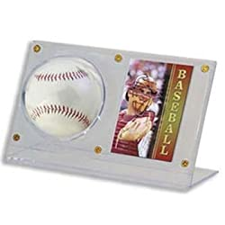 Ultra-Pro Acrylic Ball and Card Holder (Quantity of 6)