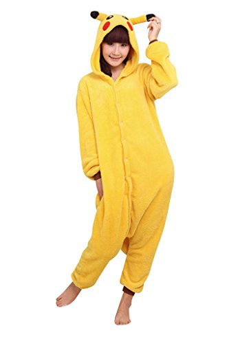 [SaiDeng Anime Pokemon Kigurumi Costumes Pajama Cosplay Outfit Size XL Pikachu] (May Costume Pokemon)