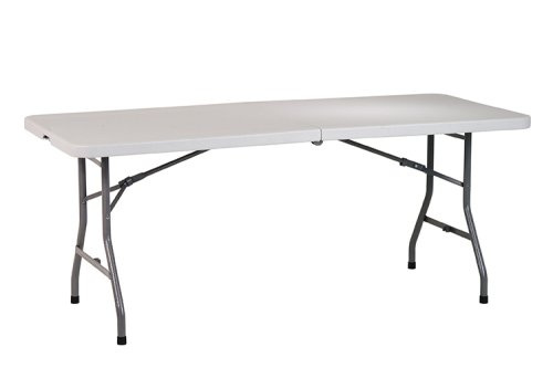 Office Star 6-Foot Resin Center-Fold Multipurpose Table