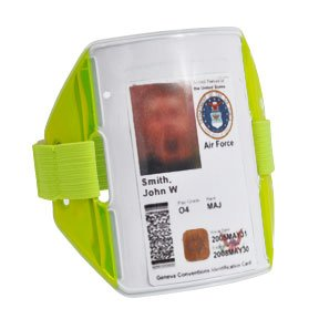 Reflex Reflective Armband w/ ID Holder (Neon Yellow)