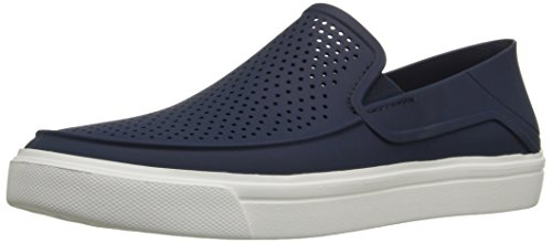 Crocs Citilane Roka Slip On Uomo in TPU, Blu navy/bianco, blu (White & Blue), 47.5 EU