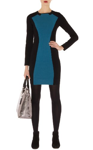 Feminine Colorblock Knit Dress