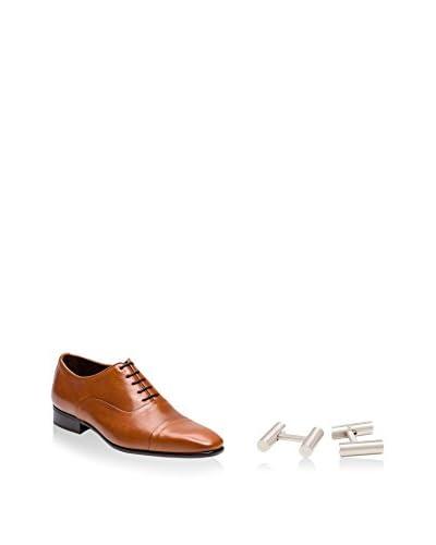 Ortiz & Reed Zapatos Oxford + Gemelos SET-ZCP24-GM19 Cognac