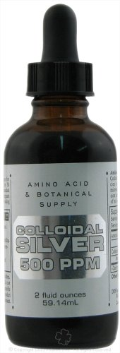 Amino Acid And Botanicall Amino Silver Coll 500Ppm 2 oz, 2 pack