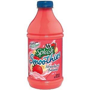 V8 Smoothie Strawberry & Banana Bottles, 46 Oz (Pack Of 6) front-415841