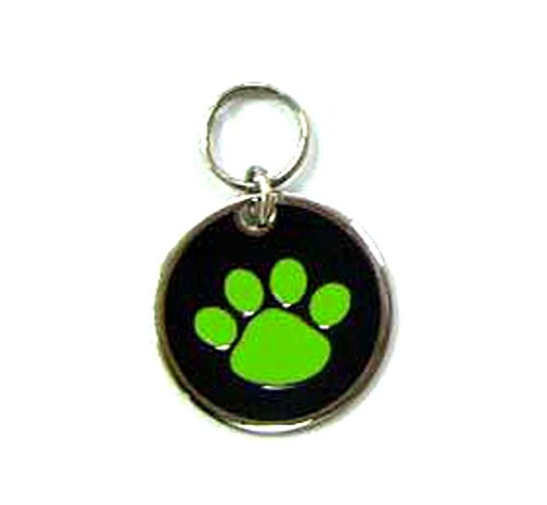 Small Paw Stainless Steel Pet ID Tag Custom Engraved Dog Cat 7/8