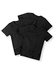 3 Pack Pure Cotton Crew Neck Vests