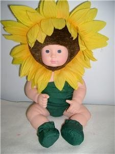 Anne Geddes 15 Sunflower baby doll by Unimax