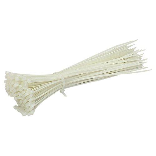 ADMI 2.8 x 200mm (8″) Self Locking Nylon Cable Zip Ties (100 Pcs)