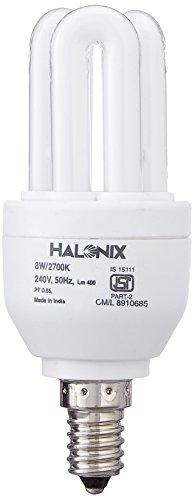 Halonix Super Saver 8W E14 3U CFL Bulb (Cool Day Light)
