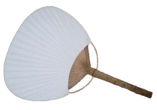 White Paper Paddle Fan, 3 pieces