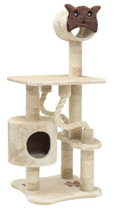 Cat Face Kitty Cat Condo Sisal Scratcher