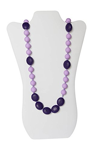 Little Teether Miss Fairytale Sassy Teething Necklace, Purple/ Light Purple