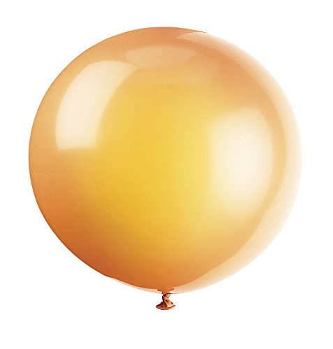 "36"" Giant Latex Citrus Orange Balloons, 6ct"