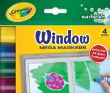 Crayola Washable Window Mega Markers-4/Pkg - 1