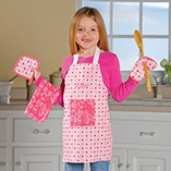 Personalized Apron Cooking Set, Pink