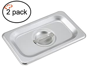 Tiger Chef 6-inch Stainless Steel Anti-Jam Steam Table Pan, Hotel Pan