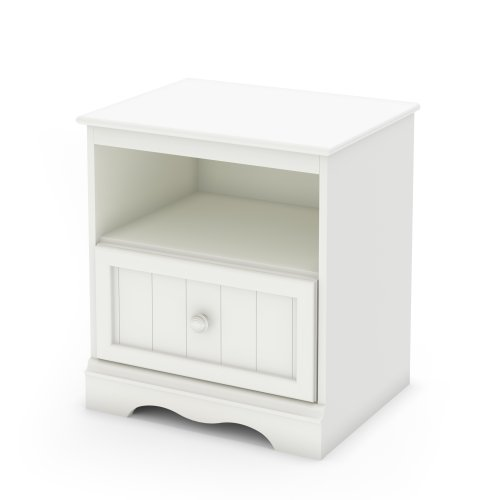South Shore Savannah Collection Nightstand, Pure White