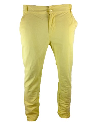 Mens Bellfied Colour Chinos Straw Yellow Fashion Trousers 28