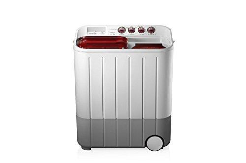 Samsung WT727QPNDMWTL02 Semi-automatic Washing Machine (7.2 kg , Grey and Red)