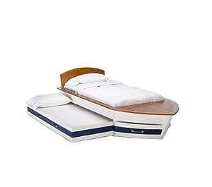 pottery barn kids speedboat bed trundle home kitchen. Black Bedroom Furniture Sets. Home Design Ideas