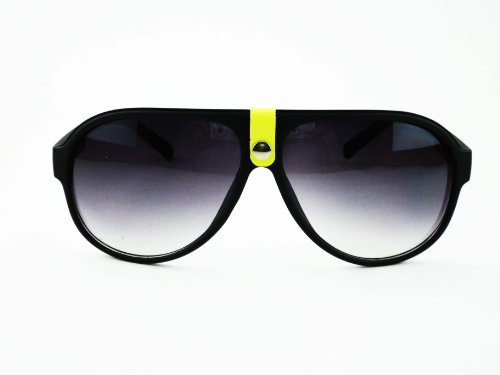 Lifestyle Escobar Lifestyle Aviator Black Sunglasses (Escobar_Evidence_32002-Yellow)