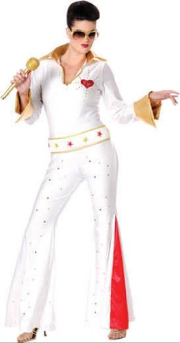 Elvis Female Jumpsuit Md/Lg Adult Womens Costume
