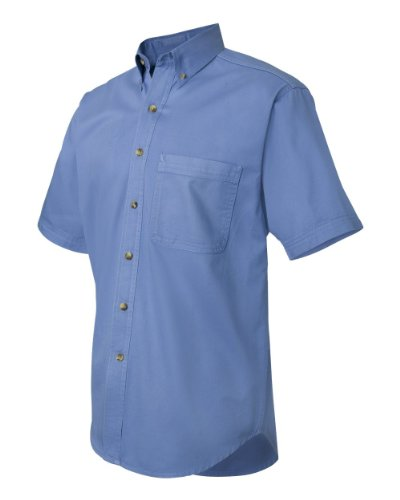 31tb%2BmrMAWL + Sierra Pacific   Short Sleeve Cotton Twill Shirt   0201   6XL   skye Discount !!