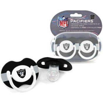 NFL Oakland Raiders 2 Pack Pacifier from Baby Fanatic