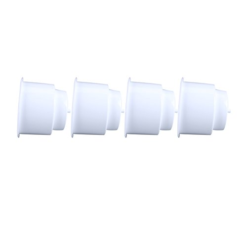(Set of 4) Amarine-made White Recessed Drop in Plastic Cup Drink Can Holder with Drain for Boat Car Marine Rv (Boat Cup Holder compare prices)
