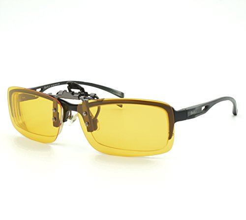 6670611d5f5 Yellow Polarized Clip On Sunglasses