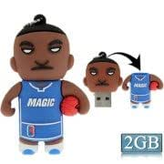 Player Doll Style Silicone USB 2.0 Flash disk, Special for All Kinds of Festival Day Gifts(2GB)