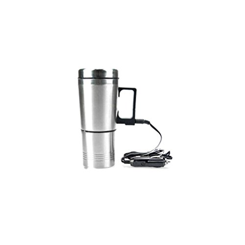 12V Stainless Steel Travel Car Cigarette Plug Heated Cup Hot Water Drinks Mug Coffee Tea Heater (12v Boiler compare prices)