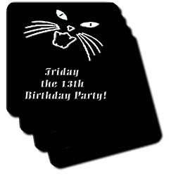 Friday the 13th Birthday Party - Set Of 8 Coasters - Soft