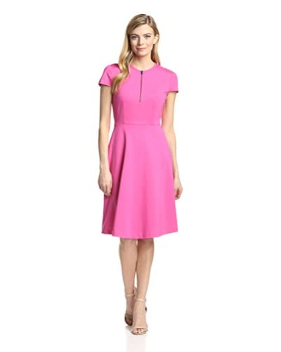 Magaschoni Women's Ponte Knit Fit-and-Flare Dress