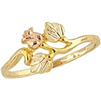 Beautiful! 10k Yellow-gold Black Hills Gold Women's Rose Ring by RGC