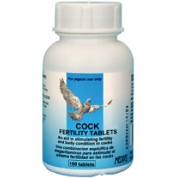 MedPet Cock Fertility 100 tablets. An aid in stimulating fertility in cocks. For Pigeons, Birds & Poultry