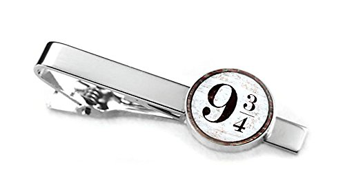 Harry Potter Tie Clip, Platform 9 and three quarters Cufflinks, Hogwarts Jewelry, nine and three quarters Cuff Links, Harry Potter Wedding Gifts