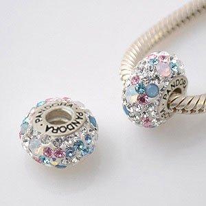 A Beautiful Opal & Swarovski Crystal Charm, Solid
