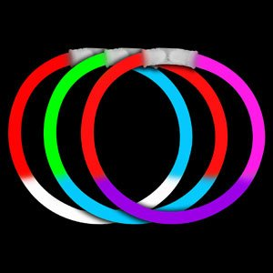 Fun Central I38 8 Inch Glow in the Dark Bracelets Tri-Colors - Assorted