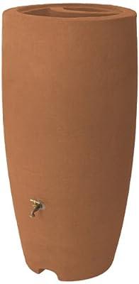 Algreen Products Athena Rain Barrel, 80-Gallon, Terracotta
