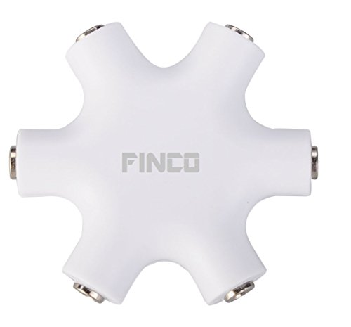Finco (Tm) 6-Way 3.5Mm Stereo Audio Headset Hub Splitter Up To 5 Headphones To Ipod Mp3 With Stereo Cable (With Cable)