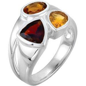 Genuine IceCarats Designer Jewelry Gift Sterling Silver Gen Moz Gar, Mad Cit & Cit Rin. Gen Moz Gar, Mad Cit & Cit Rin In Sterling Silver Size 8